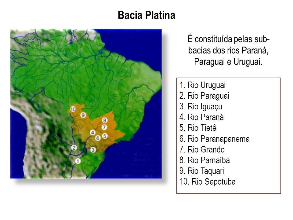 É constituída pelas sub-bacias dos rios Paraná, Paraguai e Uruguai.