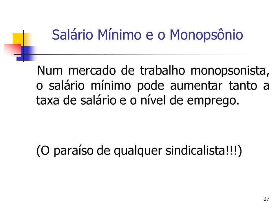 Salário Mínimo e o Monopsônio