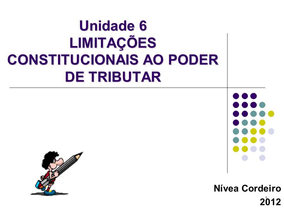 Unidade 6 LIMITAÇÕES CONSTITUCIONAIS AO PODER DE TRIBUTAR
