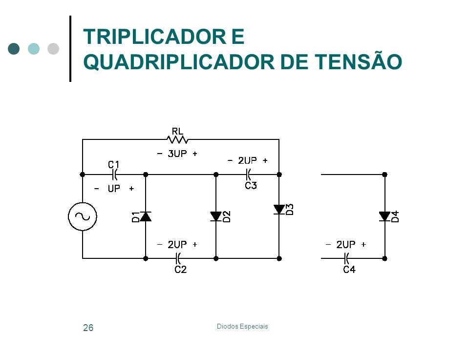 TRIPLICADOR E QUADRIPLICADOR DE TENSÃO