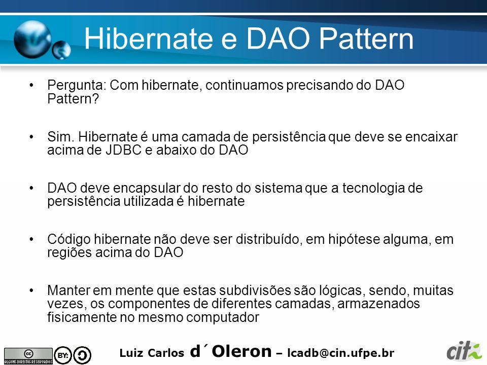 Hibernate e DAO Pattern