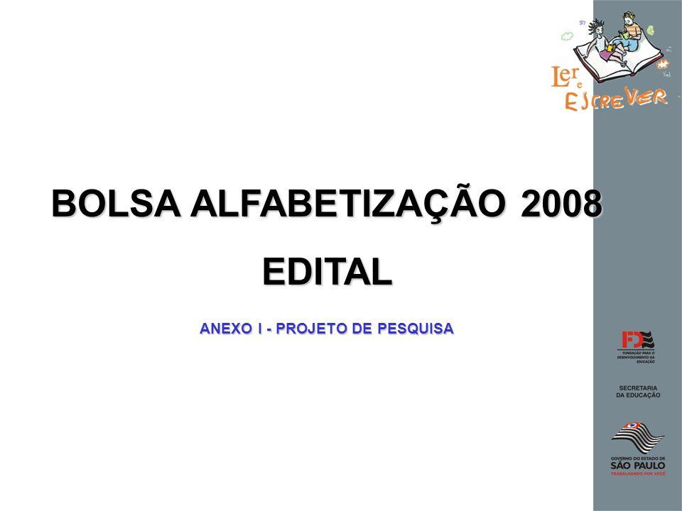 ANEXO I - PROJETO DE PESQUISA
