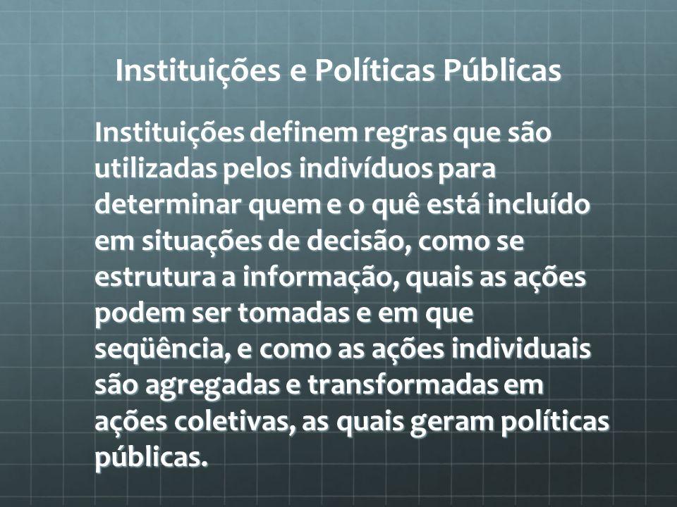 Instituições e Políticas Públicas