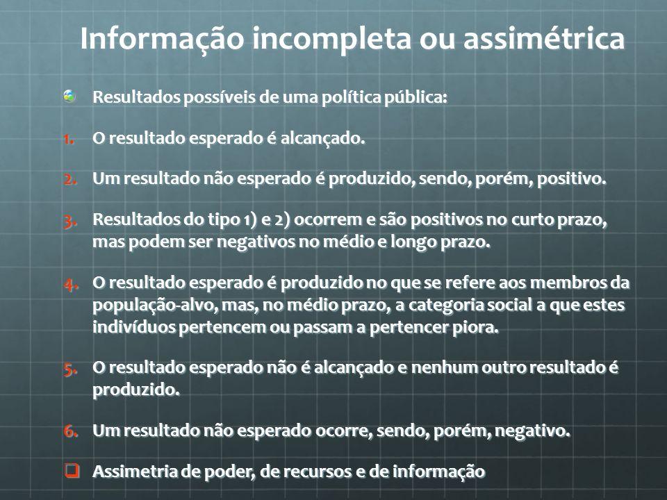 Informação incompleta ou assimétrica