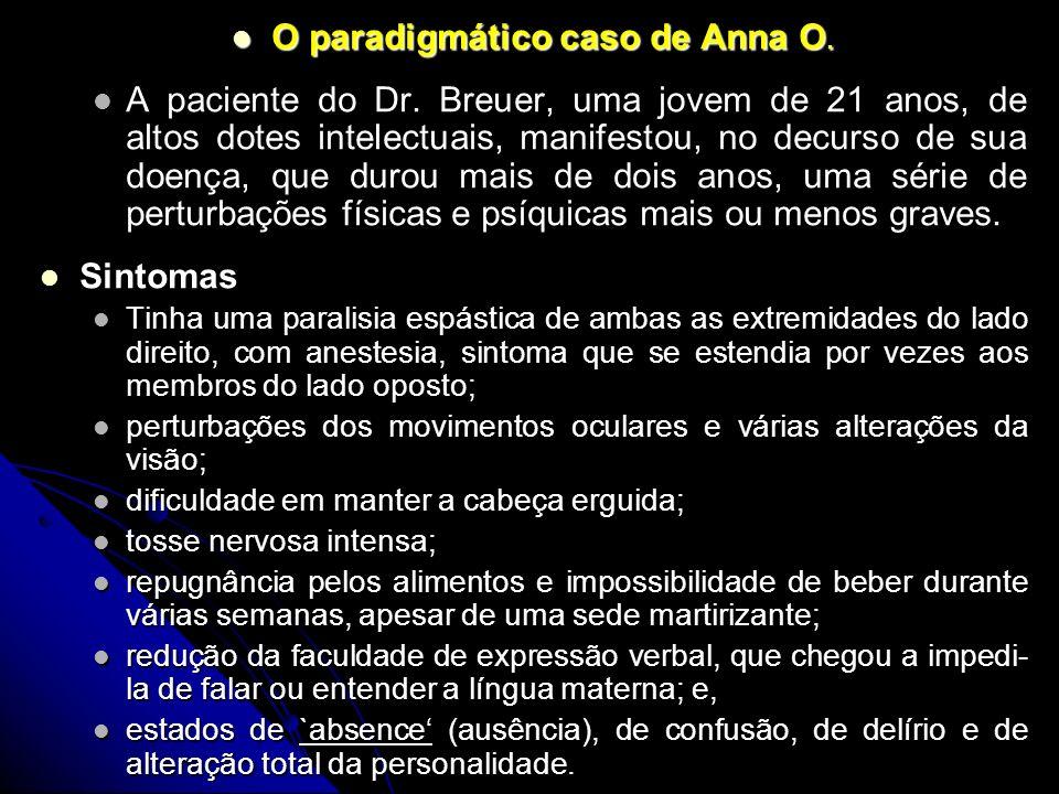 O paradigmático caso de Anna O.