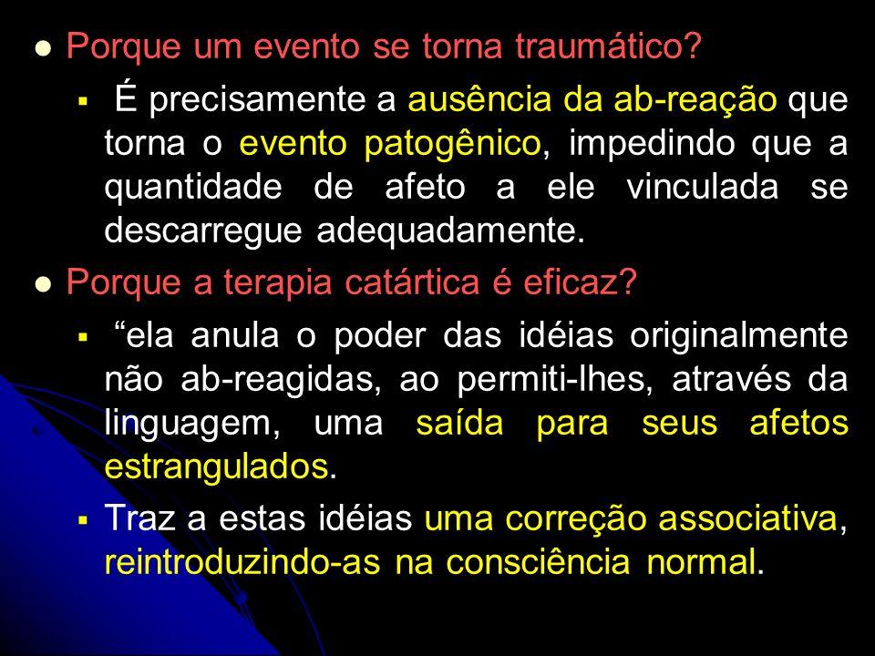 Porque um evento se torna traumático