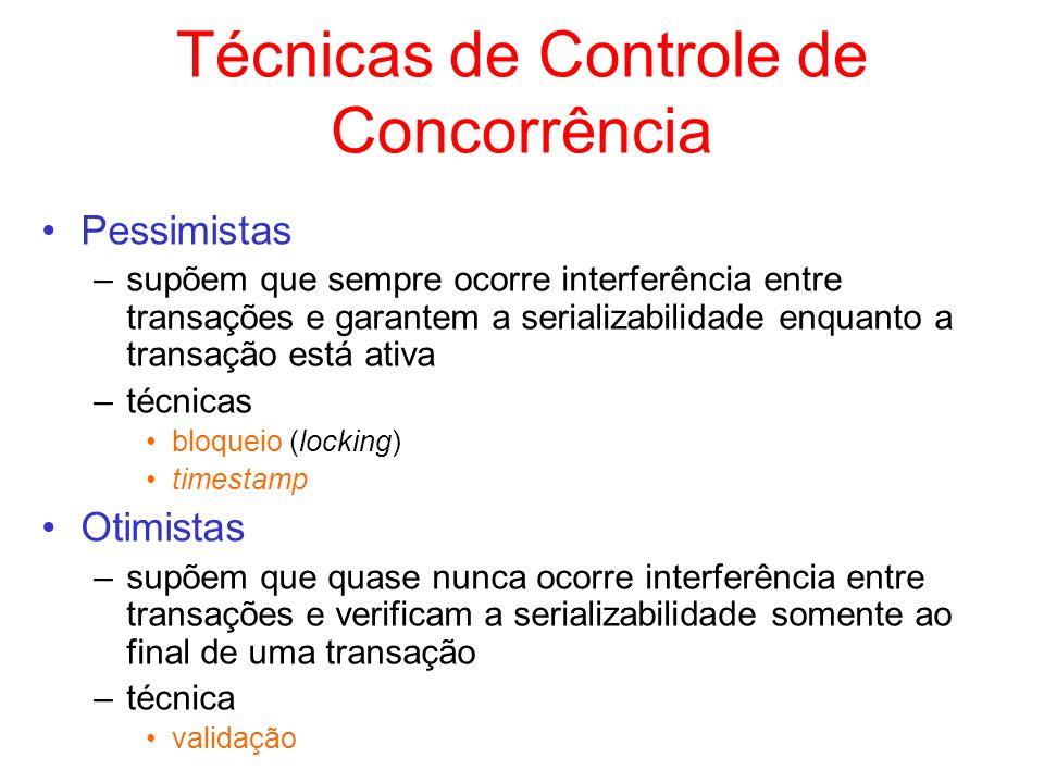 Técnicas de Controle de Concorrência