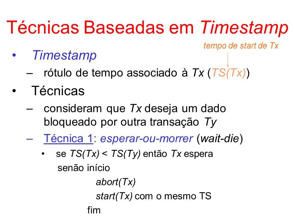 Técnicas Baseadas em Timestamp