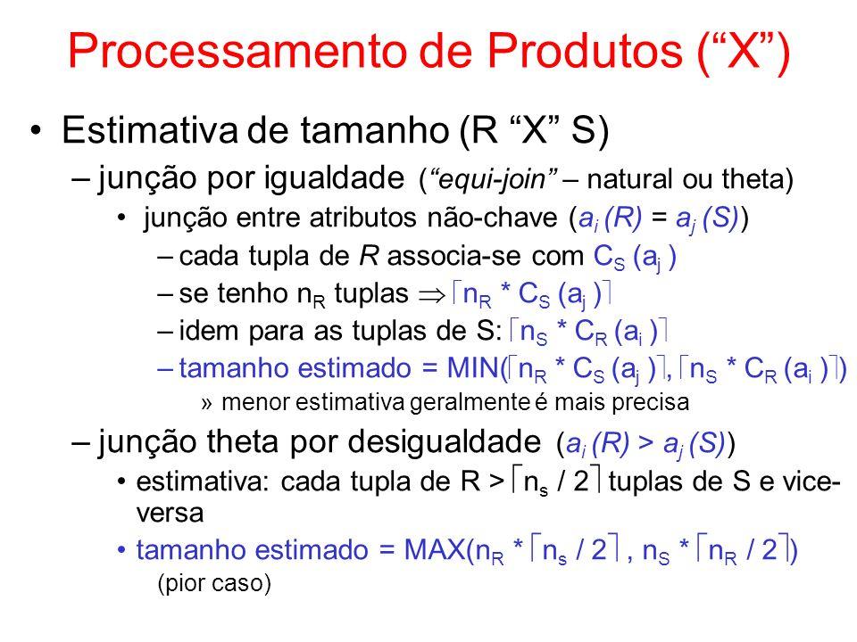 Processamento de Produtos ( X )
