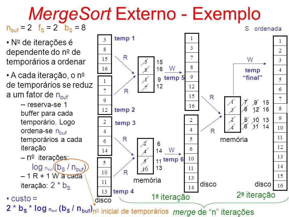 MergeSort Externo - Exemplo