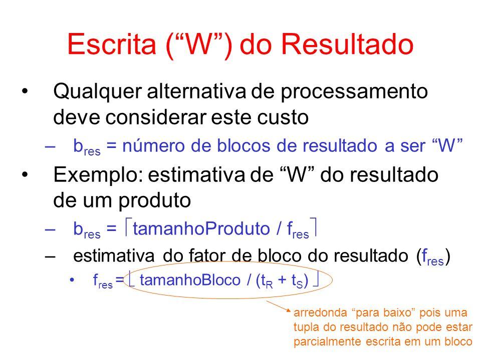 Escrita ( W ) do Resultado