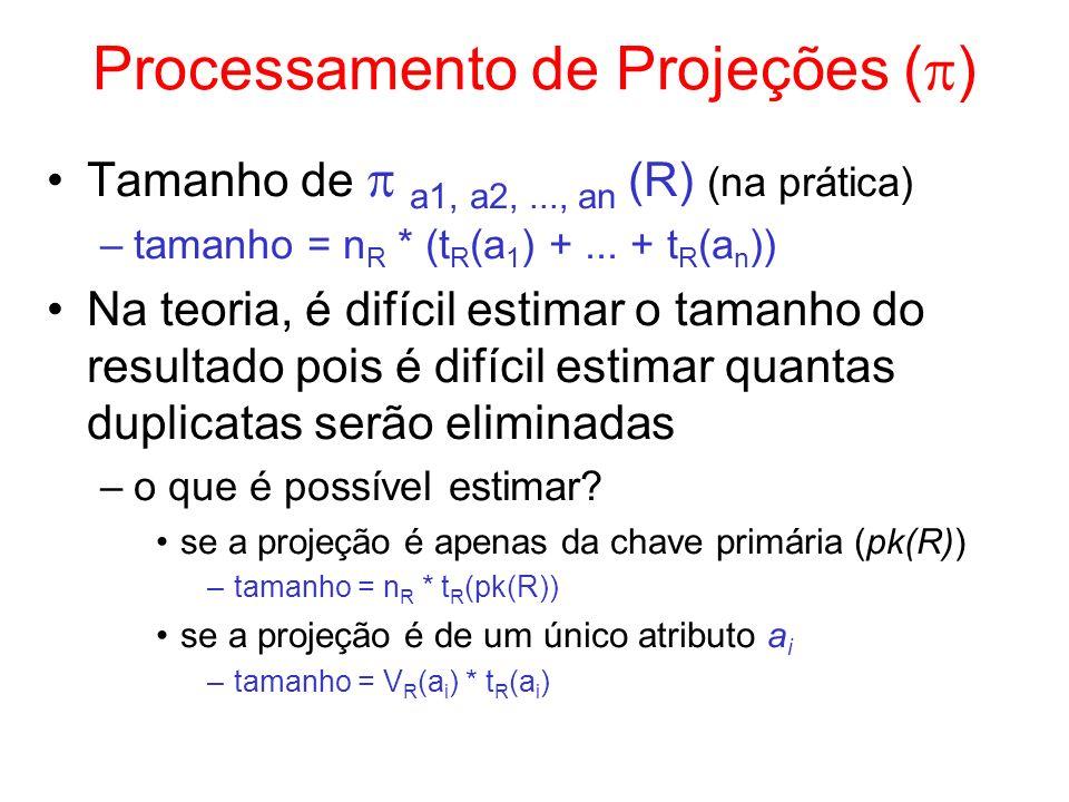 Processamento de Projeções ()
