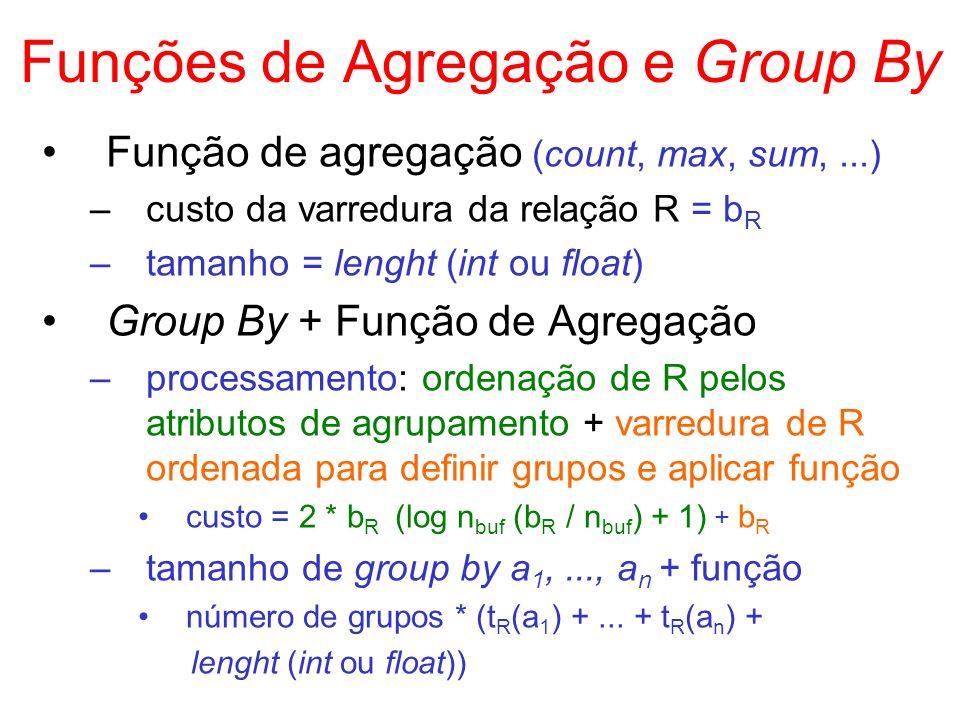 Funções de Agregação e Group By