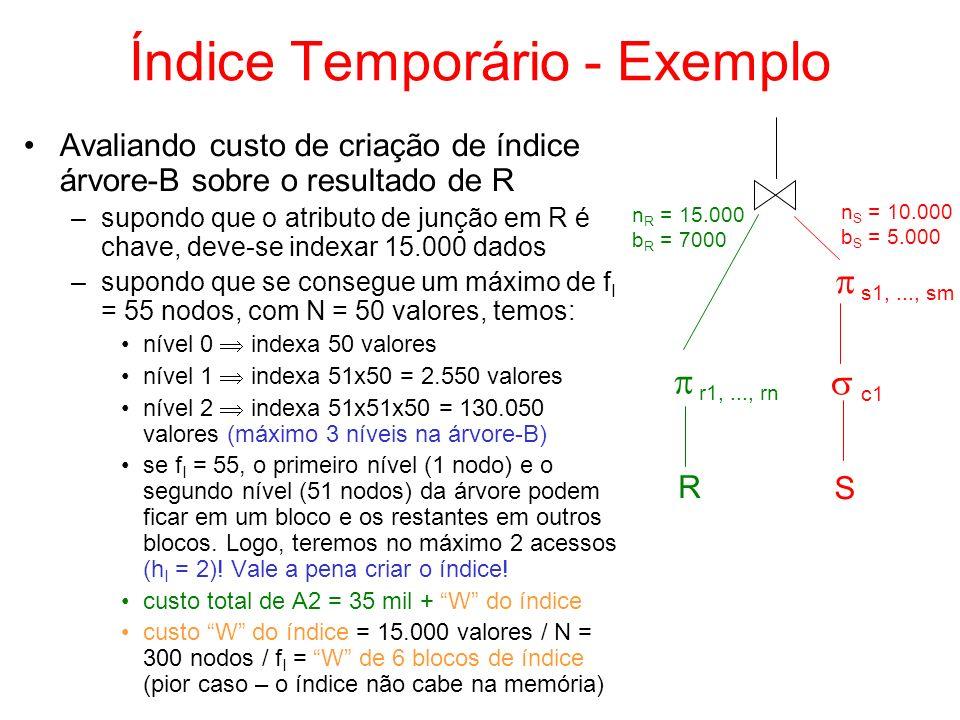 Índice Temporário - Exemplo