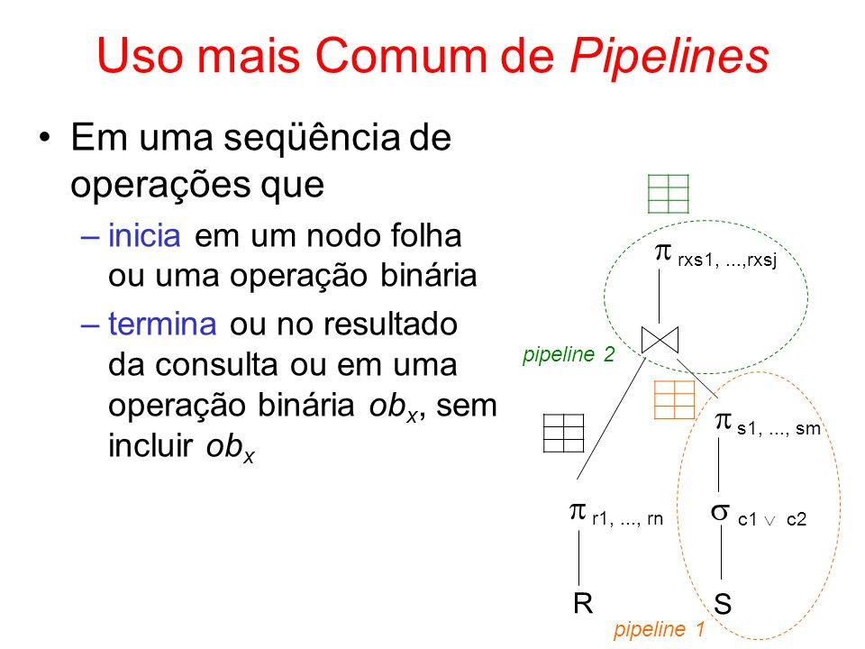 Uso mais Comum de Pipelines
