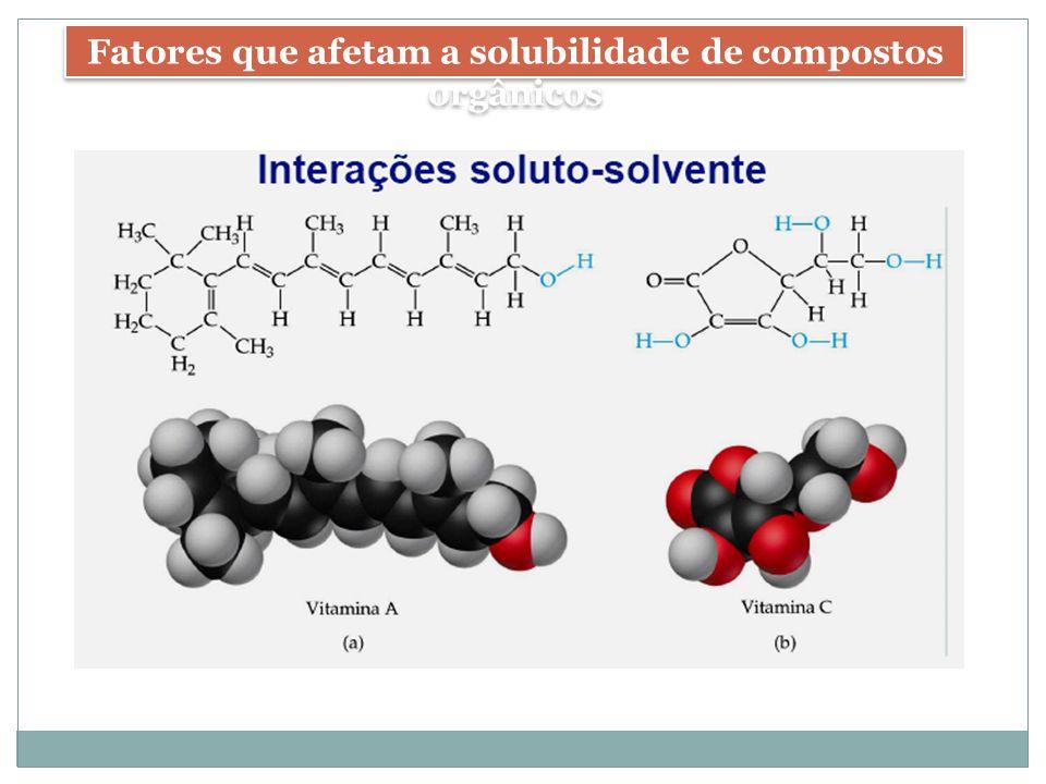 Fatores que afetam a solubilidade de compostos orgânicos
