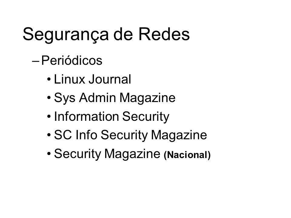 Segurança de Redes Periódicos Linux Journal Sys Admin Magazine