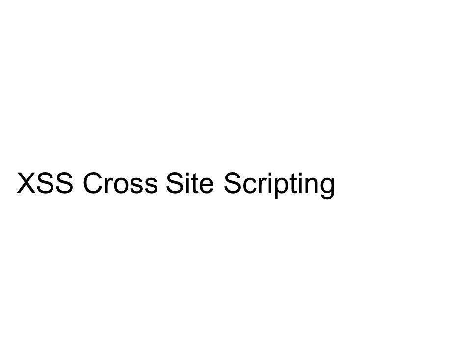 XSS Cross Site Scripting