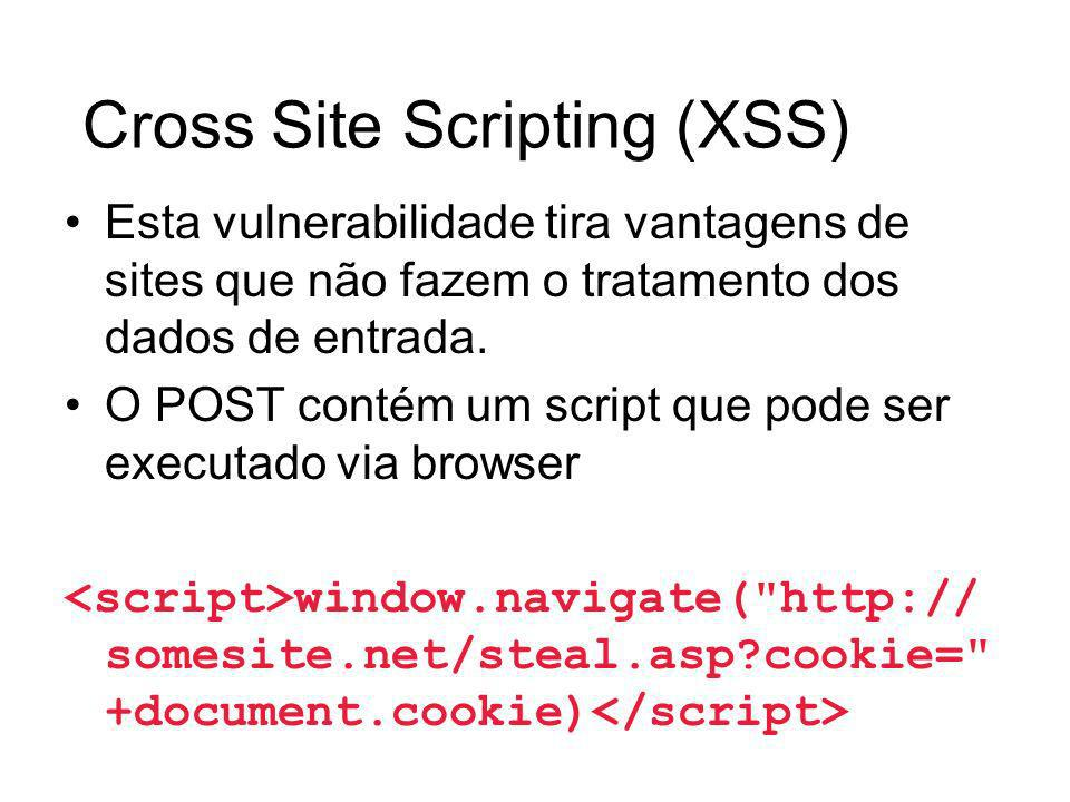 Cross Site Scripting (XSS)