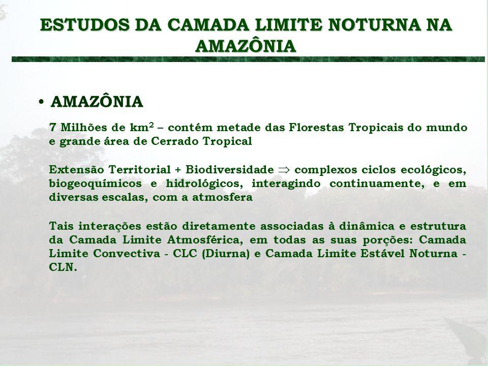 ESTUDOS DA CAMADA LIMITE NOTURNA NA AMAZÔNIA
