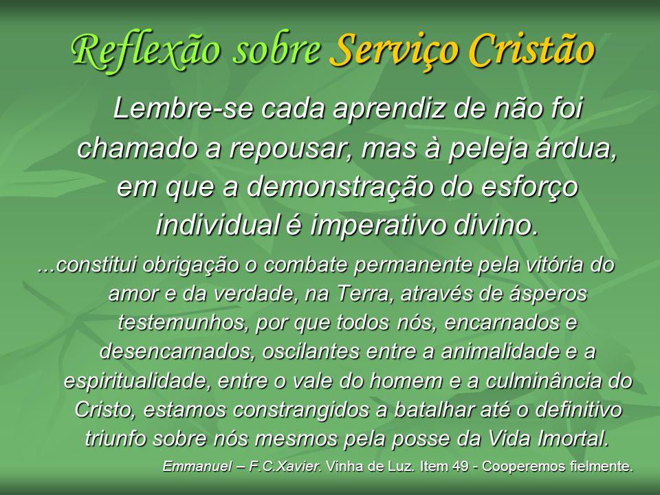 Reflexão sobre Serviço Cristão