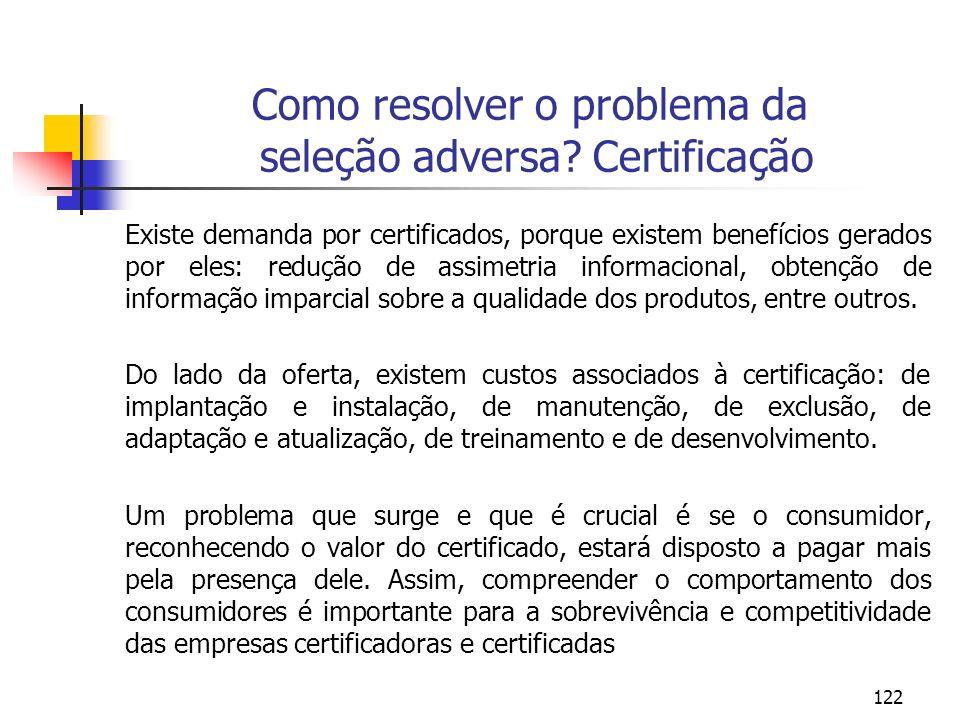Como resolver o problema da seleção adversa Certificação
