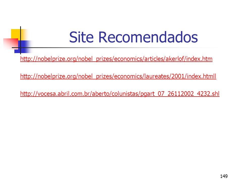Site Recomendados http://nobelprize.org/nobel_prizes/economics/articles/akerlof/index.htm.