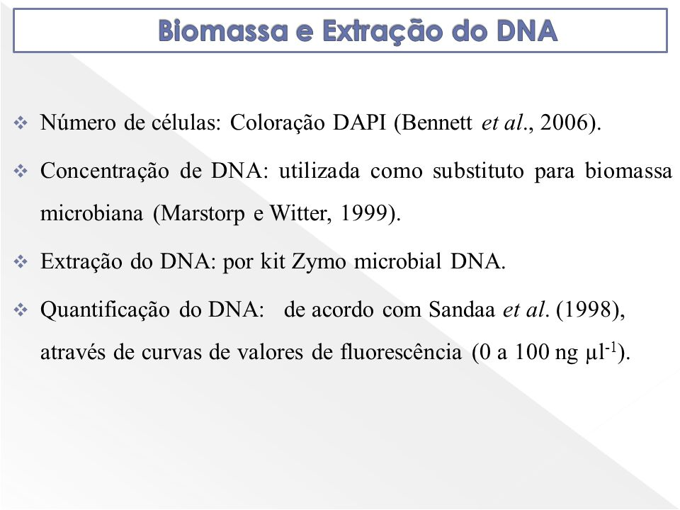Biomassa e Extração do DNA