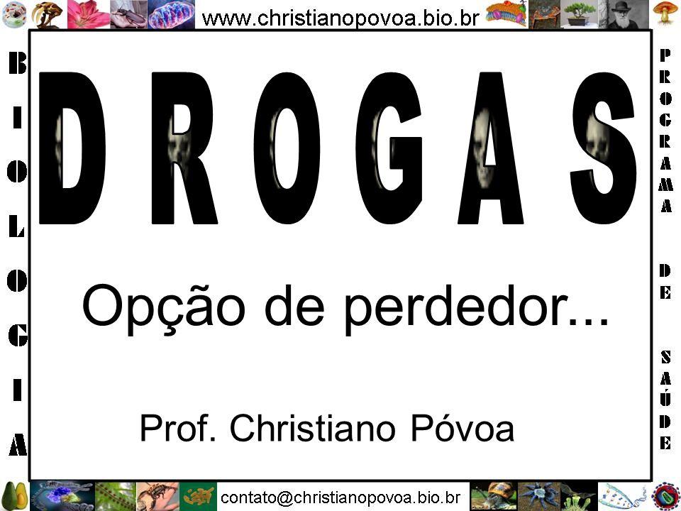 D R O G A S Opção de perdedor... Prof. Christiano Póvoa