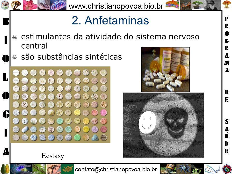 2. Anfetaminas estimulantes da atividade do sistema nervoso central
