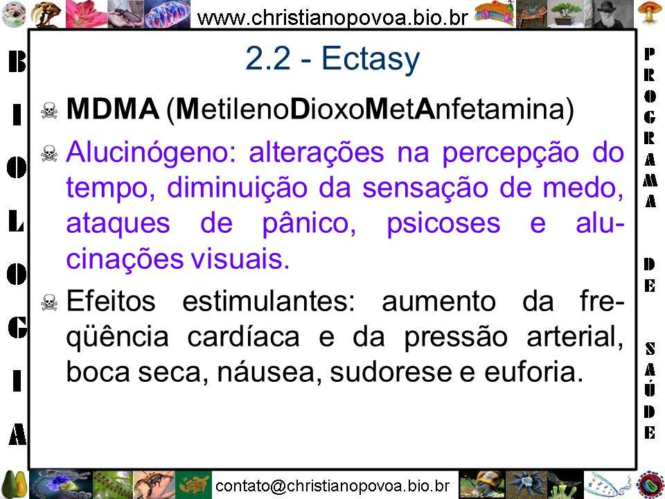2.2 - Ectasy MDMA (MetilenoDioxoMetAnfetamina)