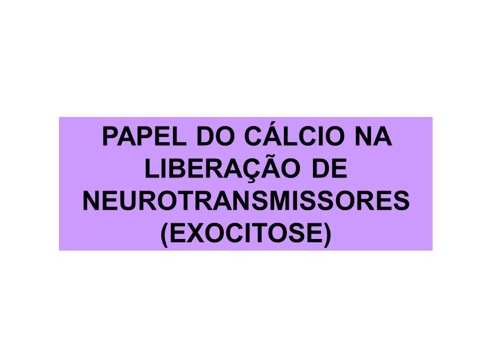 PAPEL DO CÁLCIO NA LIBERAÇÃO DE NEUROTRANSMISSORES