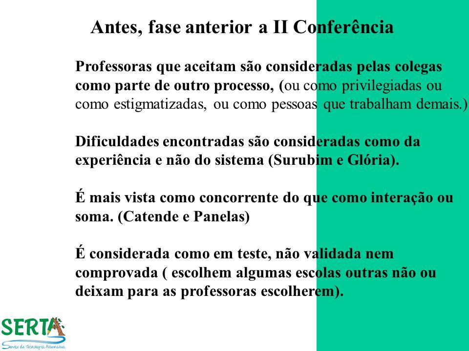 Antes, fase anterior a II Conferência