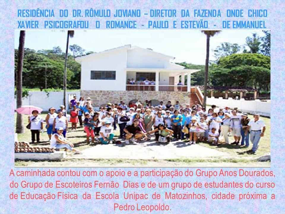 RESIDÊNCIA DO DR. RÔMULO JOVIANO – DIRETOR DA FAZENDA ONDE CHICO XAVIER PSICOGRAFOU O ROMANCE - PAULO E ESTEVÃO - DE EMMANUEL