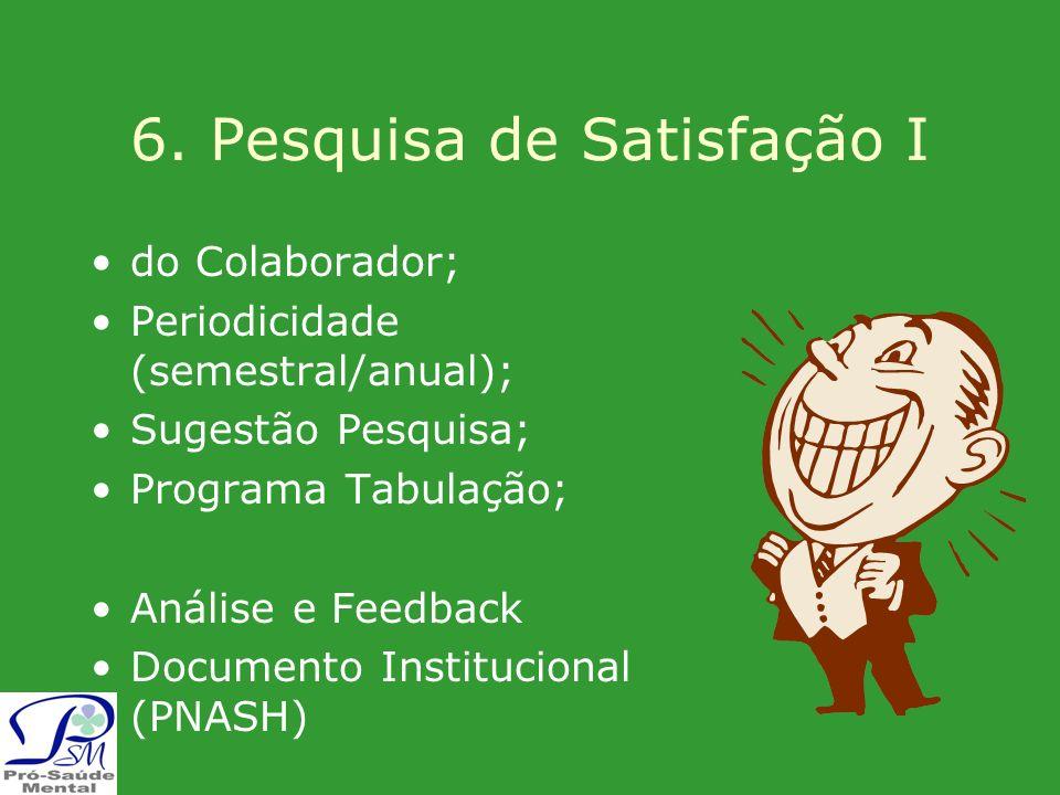 6. Pesquisa de Satisfação I