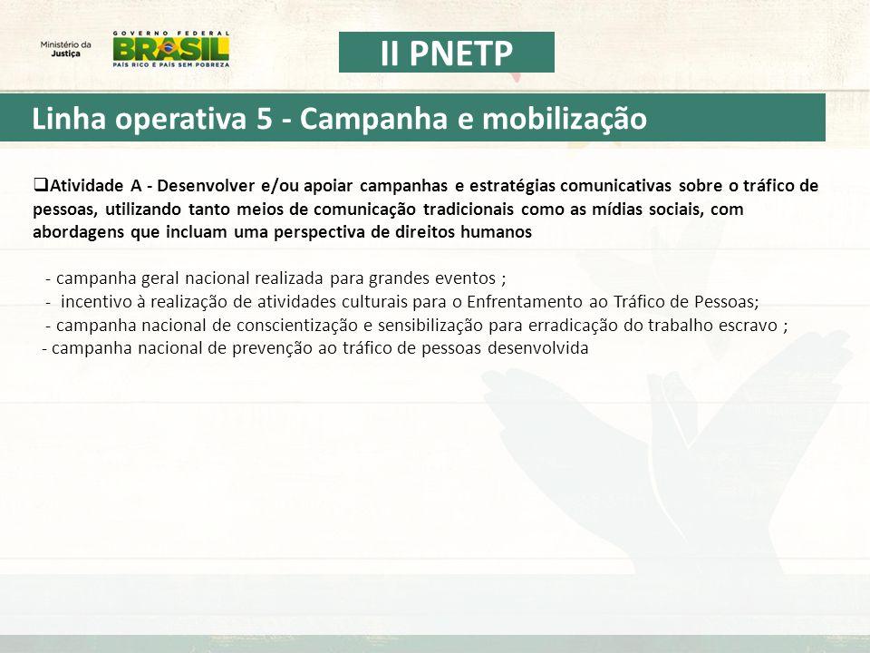 Linha operativa 5 - Campanha e mobilização