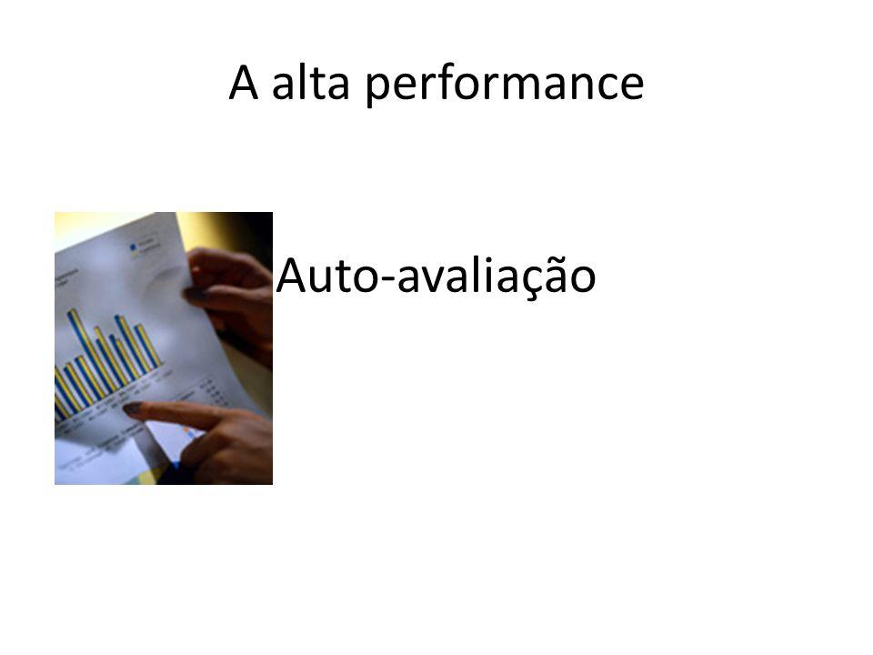 A alta performance Auto-avaliação