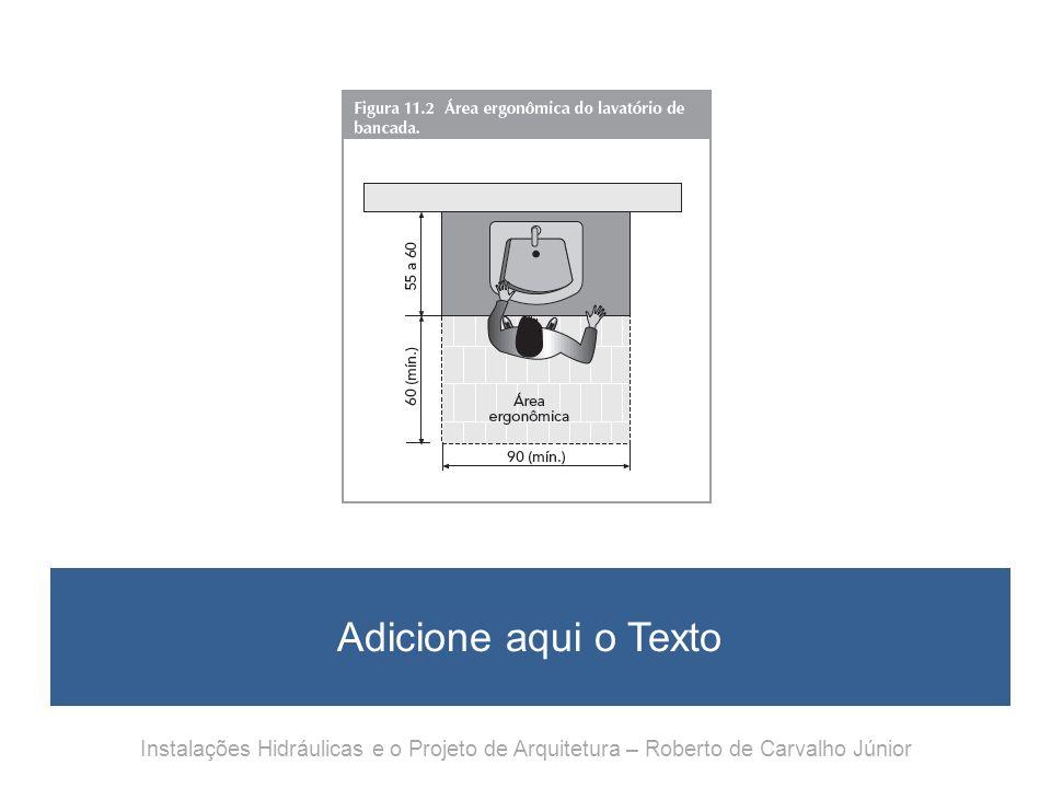 Adicione aqui o Texto Instalações Hidráulicas e o Projeto de Arquitetura – Roberto de Carvalho Júnior.