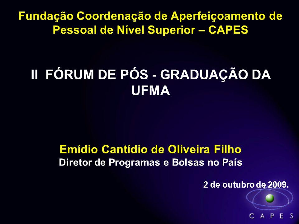 II FÓRUM DE PÓS - GRADUAÇÃO DA UFMA