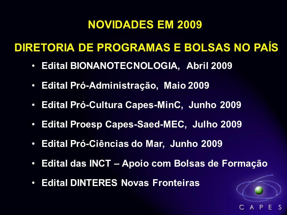 DIRETORIA DE PROGRAMAS E BOLSAS NO PAÍS