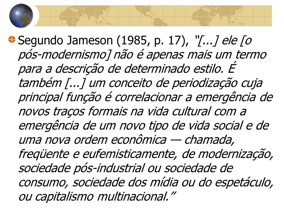 Segundo Jameson (1985, p.