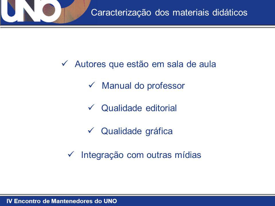 Caracterização dos materiais didáticos