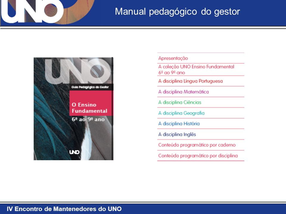 Manual pedagógico do gestor