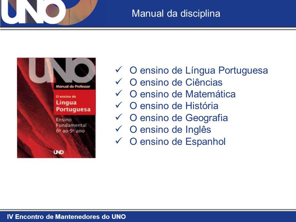 Manual da disciplina O ensino de Língua Portuguesa. O ensino de Ciências. O ensino de Matemática.