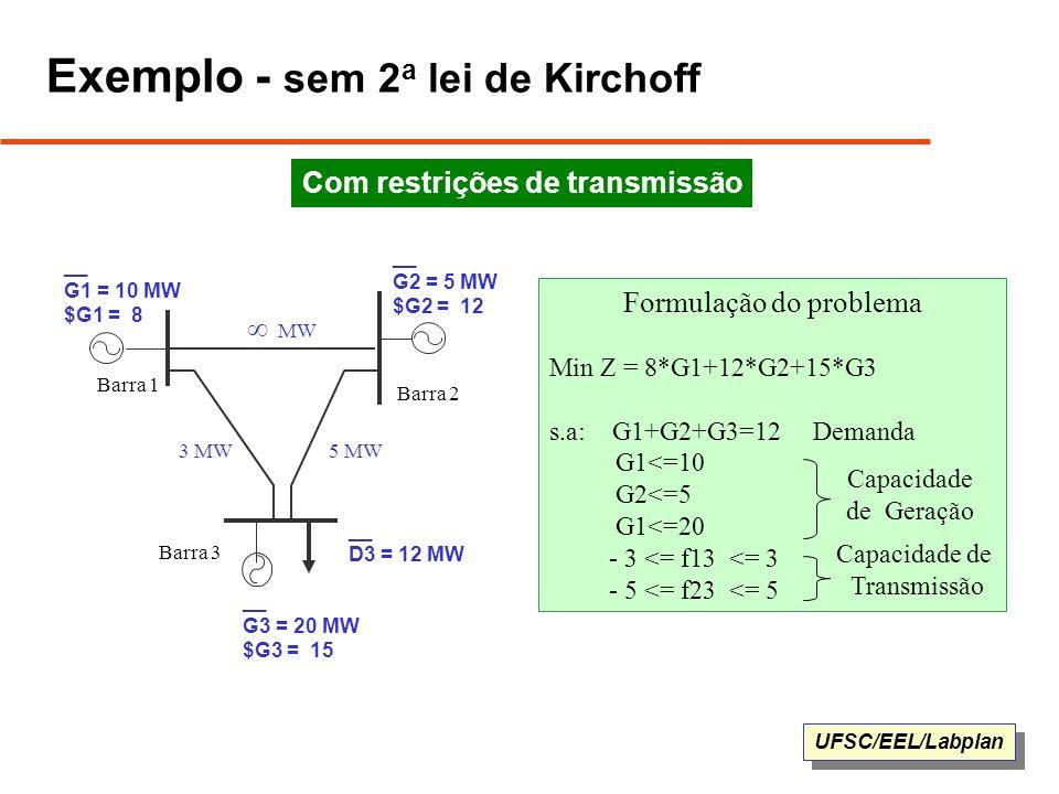 Exemplo - sem 2a lei de Kirchoff