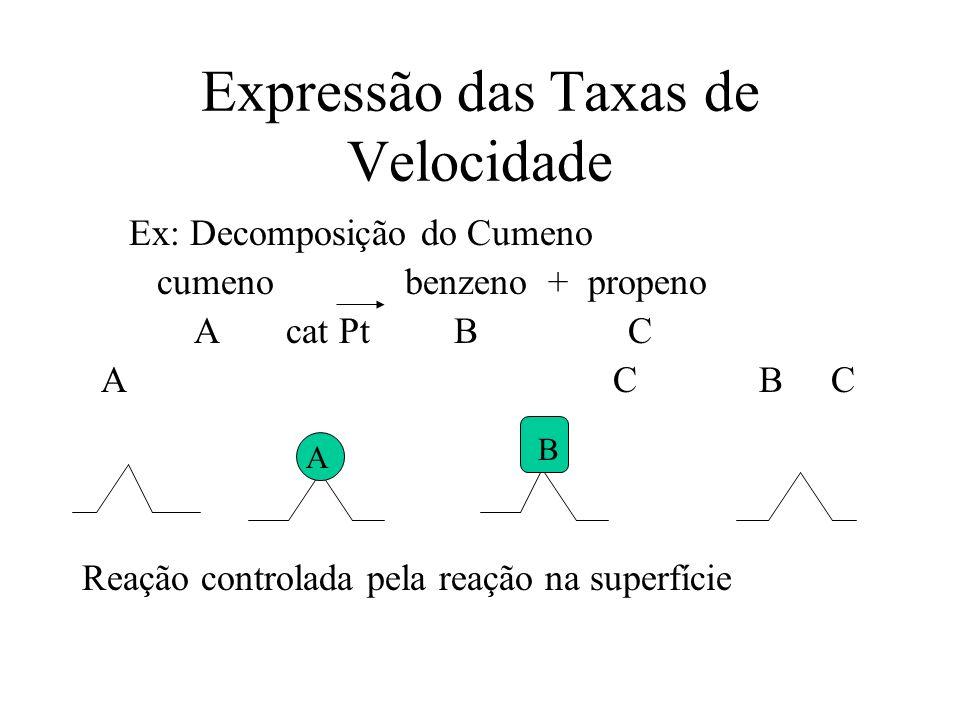 Expressão das Taxas de Velocidade