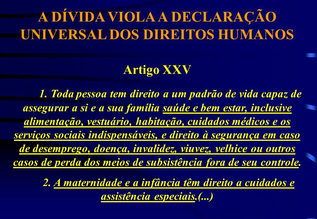 A DÍVIDA VIOLA A DECLARAÇÃO UNIVERSAL DOS DIREITOS HUMANOS