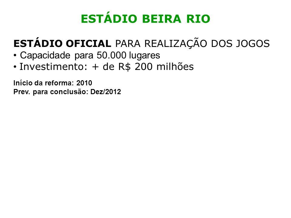 ESTÁDIO BEIRA RIO ESTÁDIO OFICIAL PARA REALIZAÇÃO DOS JOGOS