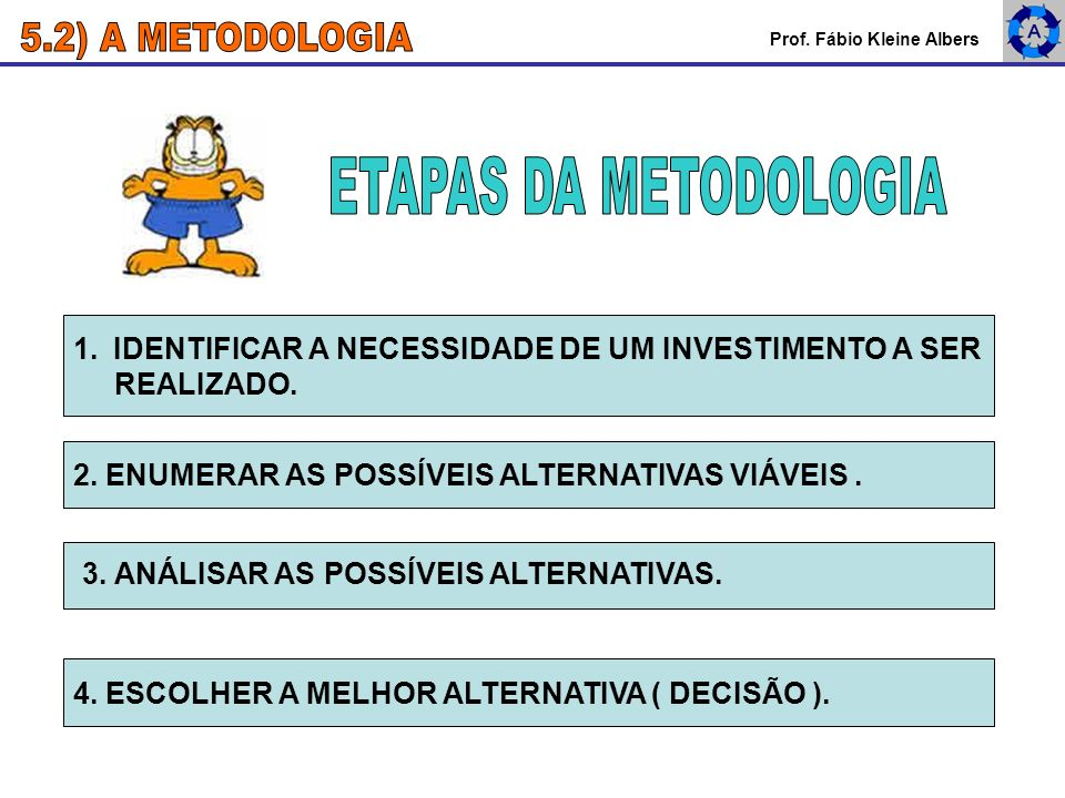 5.2) A METODOLOGIA ETAPAS DA METODOLOGIA