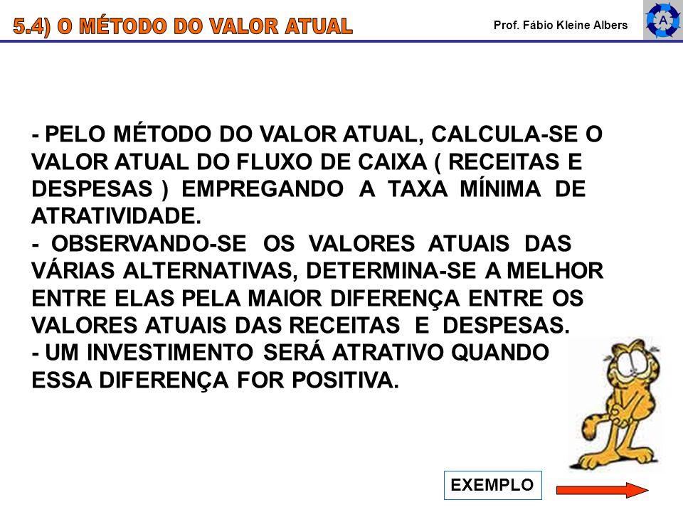 5.4) O MÉTODO DO VALOR ATUAL